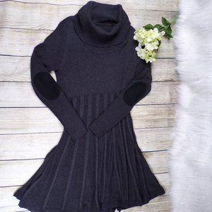 Calvin Klein Gray Turtleneck Sweater Dress